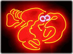 "Lobster Neon Sign 15"" Wide x 20"" Tall x 2"" Deep $225"