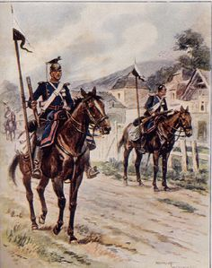 Prussian uhlans, 1870 this is what her grandfather did over in Prussia