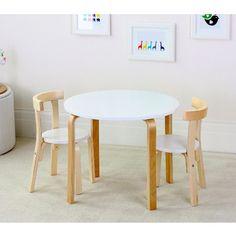 Boston Nat/White Table & 2 Chairs Set