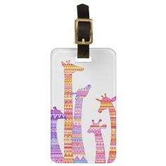 Giraffe Silhouettes in Colorful Tribal Print Tags For Luggage so please read the important details before your purchasing anyway here is the best buyReview          	Giraffe Silhouettes in Colorful Tribal Print Tags For Luggage Review from Associated Store with this Deal...