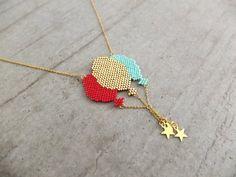 Sautoir ★ballons ★ chaîne dorée à l'or fin 24K : Collier par my-french-touch