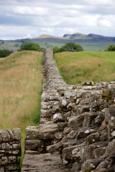 Birdoswald Roman Fort, the longest continuous remaining stretch of Hadrian's Wall. Cumbria, England.