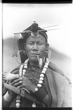 Shaman: Apatani #Shaman during a ritual procession.