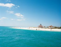 The beautiful turquoise waters off Gasparilla Island, Florida.