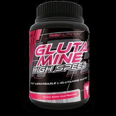 GLUTAMINE HIGH SPEED: Szybko wchłanialna L-glutamina!   Rozpuszczalna L-glutamina Wysoka rozpuszczalność Szybkie wchłanianie i wysoka biodostępność