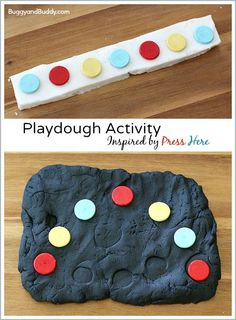 Playdough Activity for Kids Inspired by the Children's Book, Press Here! (Great for pattern practice!)~ BuggyandBuddy.com