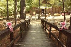 Wooden bridge to reception at the Fowler's House in the Tannehill State Park; Tannehill state park wedding;