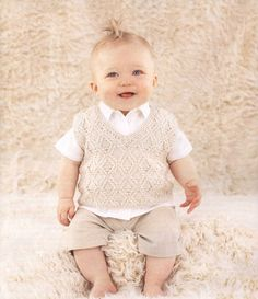 Baby Boy Knits Vest Sweater, Newborn to all Toddler sizes on Etsy, $17.00