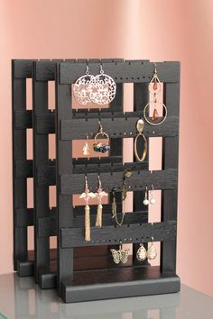 This item is unavailable Jewelry Organizer, Wall Mount Wooden Earring Holder, Holds 40 pairs, Jewelry Holder Diy Earring Holder, Earring Storage, Diy Jewelry Holder, Jewelry Hanger, Jewelry Stand, Jewellery Storage, Jewellery Display, Jewellery Box, Wall Mount Jewelry Organizer