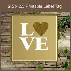 Gold Lable / Printable Wedding Favor Tag / Instant by IsiDesigns