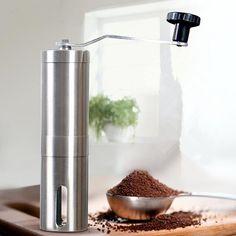 US $9.60 Coffee Grinder Manual Coffee Maker Meat Gorn 304 Stainless Steel Burr Mill Grinders Ceramic Corn Grinding Grain Milling Machine