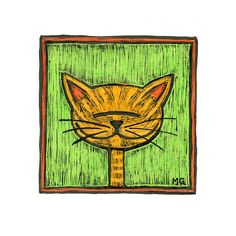 Ginger stripey cat picture Portrait of an orange by stupidcats