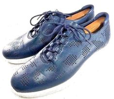 COLE HAAN MEN'S ORIGINAL GRAND PERFORATED SNEAKER BLUE SIZE 10M | eBay