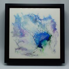 """Float Framed Fluid Art Abstract Painting on 8""""x 8""""x .75"""" Cradled Wood (Pinewood and Birch).   Ready to hang.  Materials:  Acrylic paints, UV/Archival Resin Framed Size:  9.5"""" x 9.5"""" x 2""""   #abstractart #floatframe #fluidart #acrylicpour #fluidpour #walldecor #art Wood Canvas, Wood Art, Unique Wall Art, Pour Painting, Acrylic Pouring, Floating Frame, Resin Art, Birch, Modern Art"""