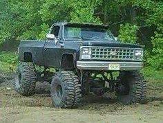 Classic Pickup Trucks, Chevy Pickup Trucks, Gm Trucks, Chevrolet Trucks, Diesel Trucks, Cool Trucks, Chevy 4x4, Chevy Pickups, Single Cab Trucks