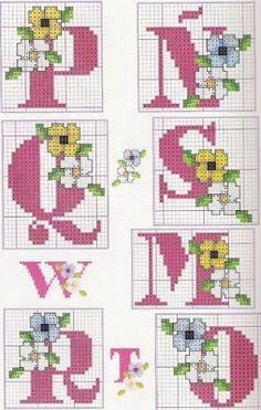 Victoria - Handmade Creations : Κέντημα - Σχέδια Small Cross Stitch, Cross Stitch Bird, Cross Stitching, Cross Stitch Embroidery, Cross Stitch Alphabet Patterns, Cross Stitch Designs, Plastic Canvas Letters, Paper Quilt, Crochet Cross