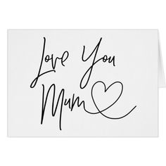 Love You Mum Mother's Day Card #cards #christmascard #holiday