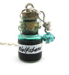 Wolfsbane potion vial Harry potter potion Glass by Mandyscharms, £8.00