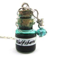 Wolfsbane potion vial Harry potter potion Glass by Mandyscharms, £8.00