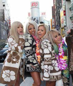 Gyaru in Alba Rosa Gyaru Fashion, Harajuku Fashion, Kawaii Fashion, American Beauty Standards, Ganguro Girl, Japanese Fashion Trends, Tokyo Fashion, Rich Girl, Asian Style