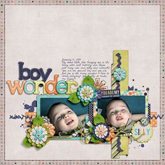 Digital Scrapbook Layout by Elizabeth | Reason To Smile Kit | Bella Gypsy Designs