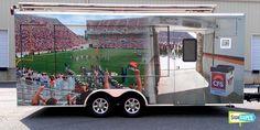 "Virginia Tech ""HOKIE"" Fan Tailgate Trailer Custom Wrap"
