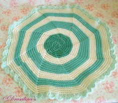 Cat Bed Crochet Crate Mat Sleep Dog Pet Blanket Washable Acrylic Sea Green Color #Handmade