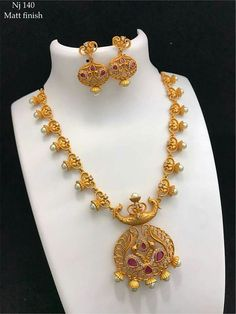 Order what's app 7995736811 Gold Jewelry Simple, Indian Jewelry, Necklace Set, Blouse Designs, Swan, Wedding Jewelry, Chains, Jewelry Collection, Pendants