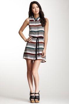 Jack Teasah Sarape Print Woven Dress