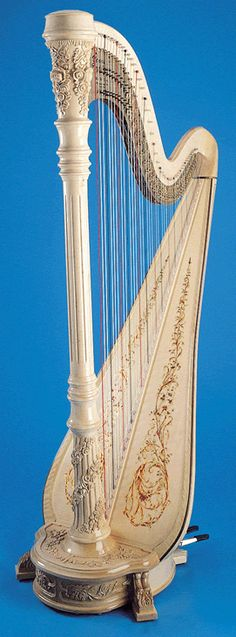 harp with roses
