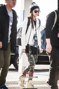 Dara's airport fashion