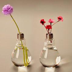 Light Bulb Glass Vase Terrarium Vases Cute Flower Pots Tabletop Glass Modern Vaso Wedding Floor Air Planter Decorative Vase