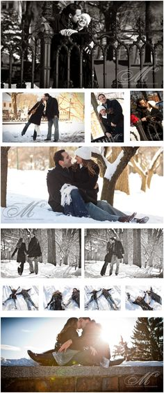 snow engagements. Maybe I'll wear my coat.