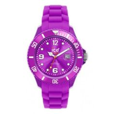 Ice-Watch Women's SIPESS09 Sili Collection Purple Dial Watch Ice-Watch. $99.00. Japanese-Quartz movement (miyota 2115). Purple dial and matching silicon strap. Orange sweep second hand, luminous dot indexes markers, arabic luminous numbers 12, 6, 9; Silver-tone luminous hour hands. Water-resistant to 165 feet (50 M). Date at 3 hour mark with magnifying window, printed bezel with arabic numerals