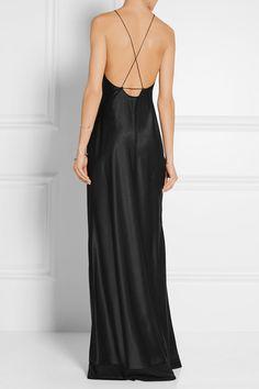 Calvin Klein Collection | Robe longue du soir en satin de soie…