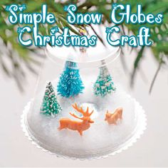 "Image by WooHome use what you have snow globe     ""Using-What's-Available"" Snow Globe Christmas Craft  Kids love making things in miniature. This snow globe Christmas craft and winter scene will have kids feeling the simplicity and serenity that comes with the true meaning"