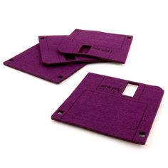 FLOPPY DISC felt mug pads (4pcs)  FLOPPY DISC is a collection of mug pads, inspired by data storage devices, which were withdrawn from public use.