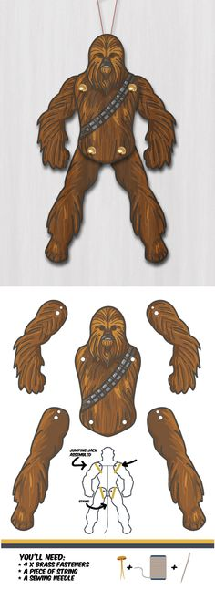 Create your own cool Star Wars Chewbacca Paper Puppet