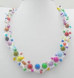 Hey, I found this really awesome Etsy listing at https://www.etsy.com/listing/475405103/rainbow-pearl-necklace-beaded-necklace