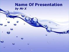 Bubble Water Flow Powerpoint Template