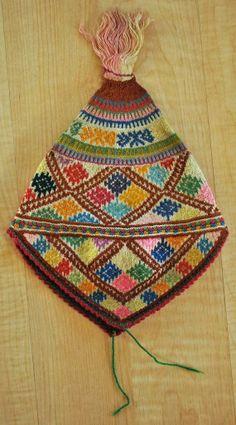 Antique Peruvian Textile Diamond Design Hat Small by entercambio, $35.00