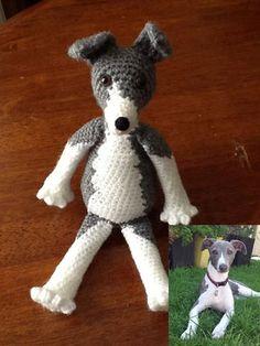 CUSTOM Crochet Whippet, Greyhound, Lurcher, Italian Greyhound Type Dog on Etsy, $52.74