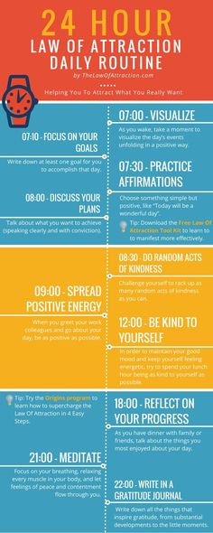 24 Hour Law of Attraction Daily Routine. | #lawofattraction #motivation #quotes