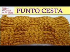 PUNTO CESTA A CROCHET - YouTube