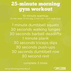 Wake Up: The 25-Minute Morning Gym Workout