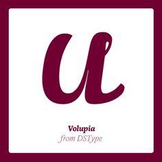 Volupia published by DSType. #fonts #fontshop