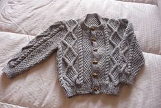 Ravelry: #21 Aran Jacket with Optional Collar pattern by Patons Australia