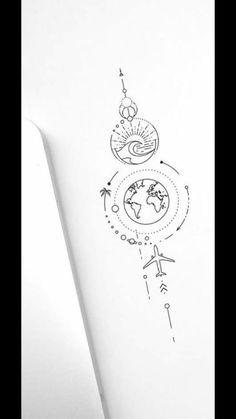 Cute Simple Tattoos, Simplistic Tattoos, Subtle Tattoos, Dainty Tattoos, Sweet Tattoos, Pretty Tattoos, Small Tattoos, Beautiful Tattoos, Element Tattoo
