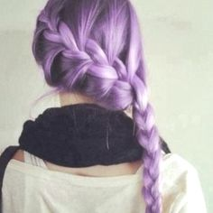 Lavender hair! :) honestly, if I could die my hair any abnormal color, it would probably be this. I'd have to wait till I'm out of the house for that matter though;)