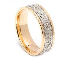 Irish Warrior Ring with Yellow Trim 6.6mm
